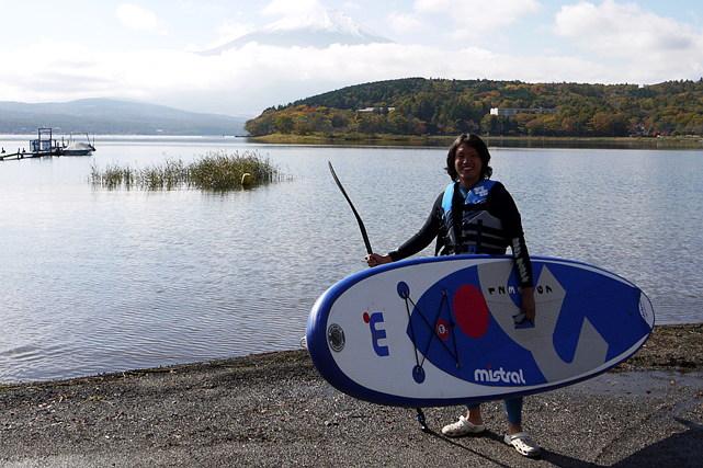 【山梨県・山中湖・SUP】初心者歓迎!富士山を見ながらSUPで水上散歩