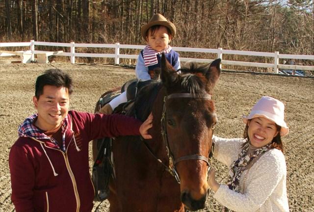 【山梨・乗馬体験・引き馬】スグ乗れる!スタッフによる引き馬で初心者・お子様もお気軽体験