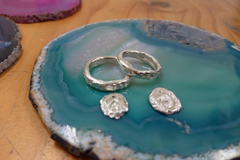 【兵庫・西宮市・シルバーリング】純銀粘土で純銀99.99%のアニバーサリーリング・マリッジリング体験