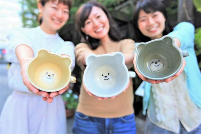 【名古屋市・陶芸体験】クマさん&ネコちゃん☆マグカップ・絵付け一日体験