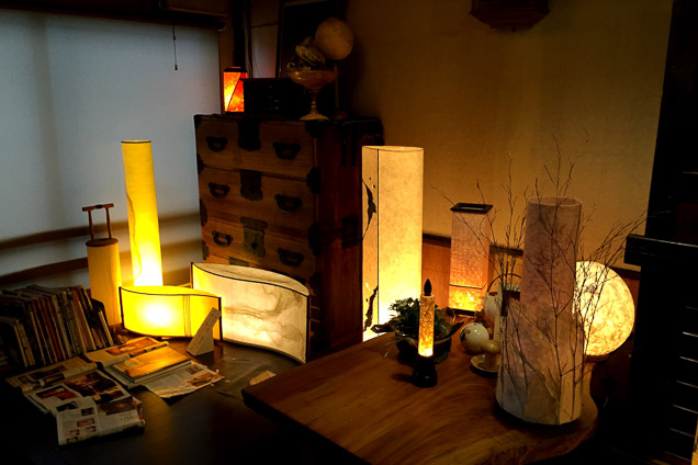 京都・二条・和紙照明手作り体験・和紙ランプシェードコース(3時間)