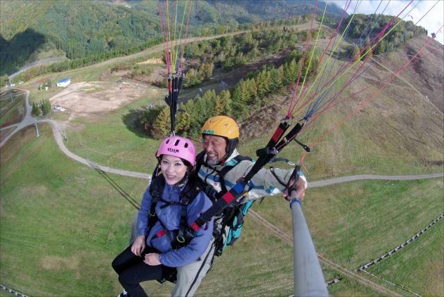【岐阜・飛騨高山・パラグライダー】高山市内と北アルプスを一望!パラグライダータンデム体験