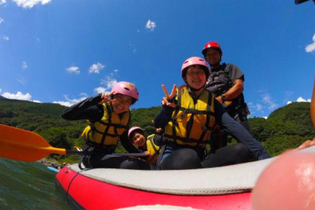 【熊本・球磨川・ラフティング】子供も楽しめる♪ショートラフティングツアー(写真データ付)