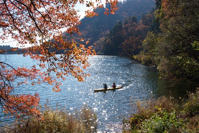 長野・大町・木崎湖・カヌーツアー(1時間20分)