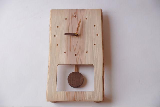 【大阪・木工教室】木選びから始める、動きが楽しい振り子時計作り(1個)