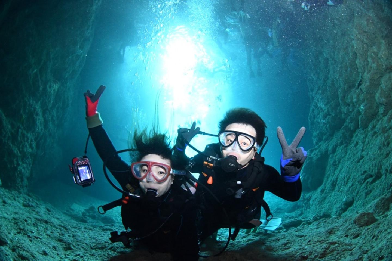 【青の洞窟・体験ダイビング】極上!どこよりも高確率で青の洞窟へ!1組完全貸切制!安全対策優良店だから安心!無制限撮影&無料プレゼント!