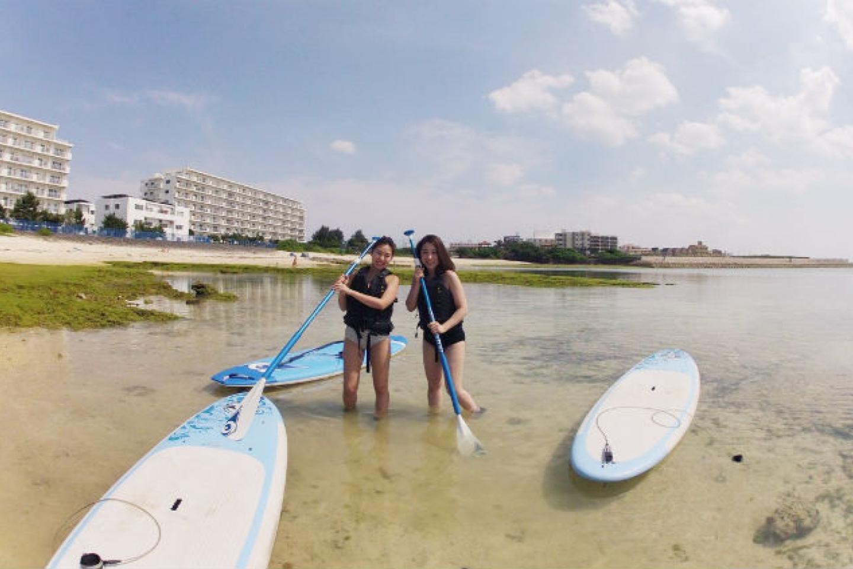 【沖縄・北谷・SUP】最大12時間SUPボードレンタル!自由気ままに、沖縄の海を大満喫しよう