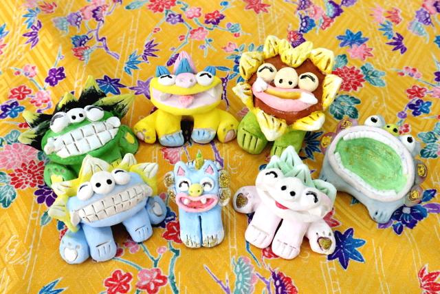 【石垣島・シーサー作り】小さいお子さまにも人気の、シーサー絵付け体験。お土産にもおすすめ!