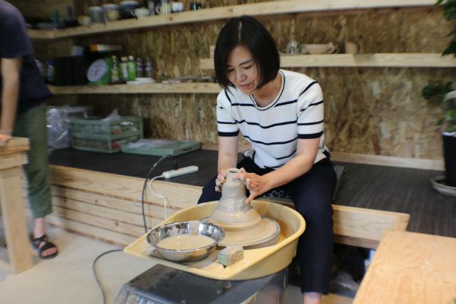 【熊本・陶芸】初心者も楽しめる電動ろくろ。お好きな作品2〜3点を制作