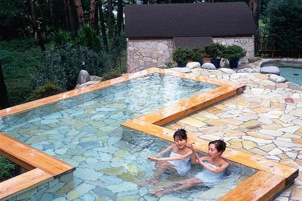 【南飛騨・馬瀬川温泉】15種類のお風呂と豪華昼食または夕食つき!手ぶらで日帰り温泉