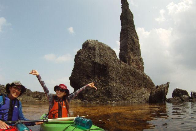 【北海道余市・カヤック】シーカヤックでろうそく岩を目指すお散歩ツアー
