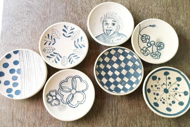 【山形・天童焼若松窯】オリジナルの5寸皿へ!お好きな絵柄でデザインできる、絵付け体験