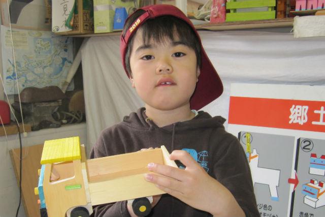 【岩手県盛岡市・木工体験】お子さまにオススメ!作って遊べる木のトラック作り
