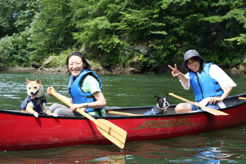 【栃木・日光・カヤック】写真サービス付き!中型・大型犬OK!タンデムカヤック&カナディアンカヌー