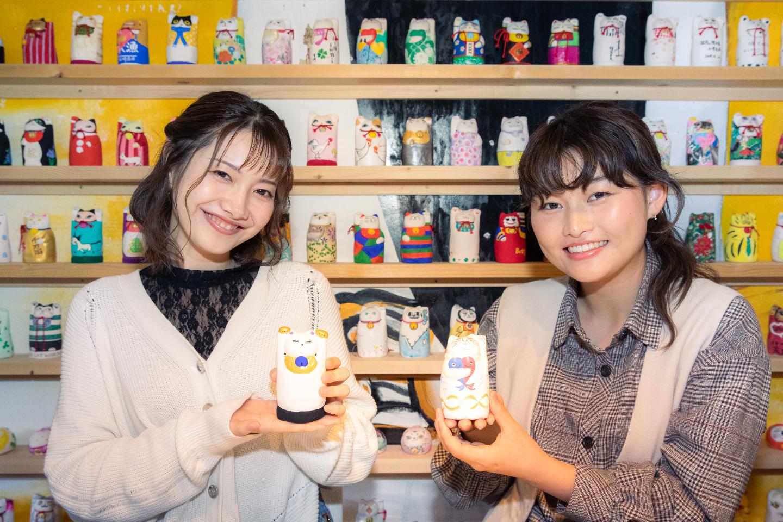 【開運・パワースポットで体験!】岡山・福を呼ぶ「招き猫美術館」で招き猫作り!