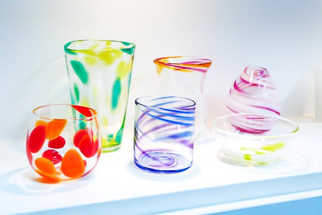 【岡山市・吹きガラス】つくれる作品の種類と選べる色が豊富!一般コース