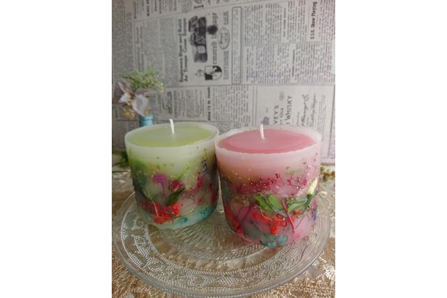【埼玉・キャンドル作り】キャンドルが草花で彩られる!ボタニカルキャンドルを作ろう!