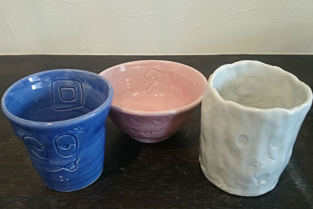 【石川・片山津温泉・手びねり】ハート形や三角形のかわいい器を作ろう!陶芸体験・粘土500gコース