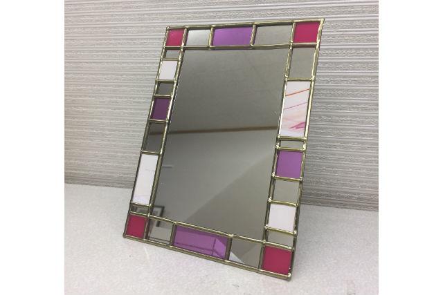 【京都・ガラス細工】好きな色のステンドグラス風ミラー!女性お1人さまでも安心です