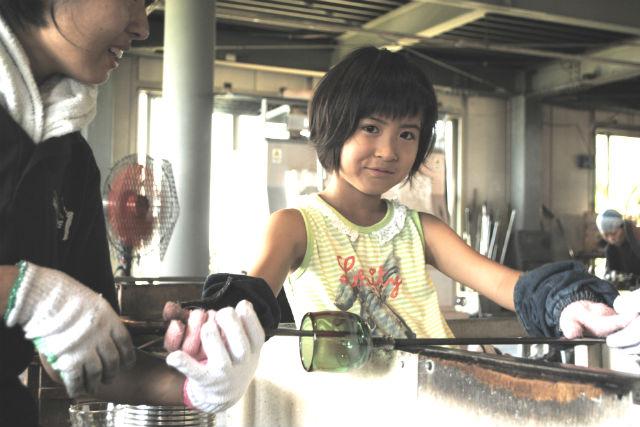 【沖縄・読谷村・ガラス細工】東シナ海を眺めながらゆったり!琉球ガラスの吹きガラス体験