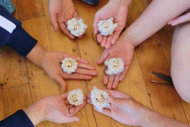 【福島県・いわき市・フェルト教室】100%オーガニックコットン使用!ふわっふわのお人形作り