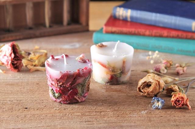 【福岡・天神・キャンドル】お花をたっぷり使った華やかなキャンドルを!ボタニカルキャンドル作り