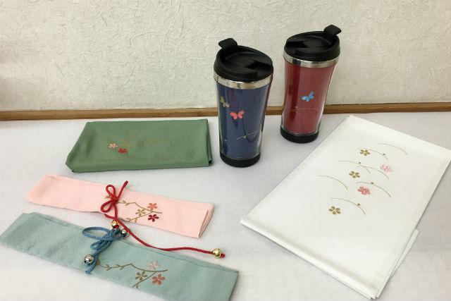 【名古屋・伝統文化体験】5種類の小物に日本刺繍。和の風格ただようアイテムを作ろう
