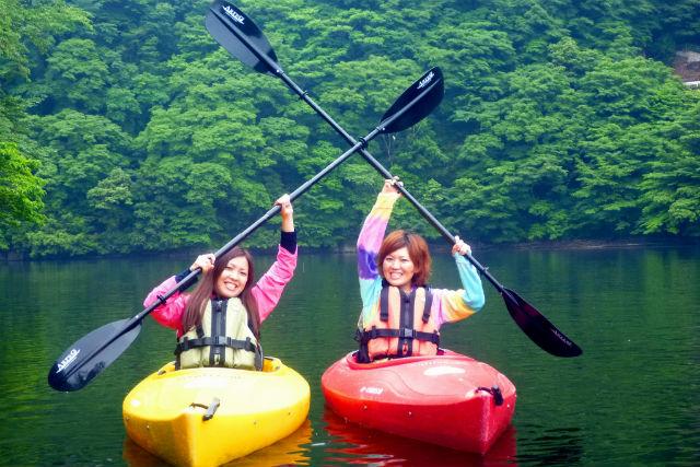 【岡山・新見市・カヌー】自由気ままに楽しむ1人乗りカヌー!心と体の深呼吸をしよう(平日特典あり)