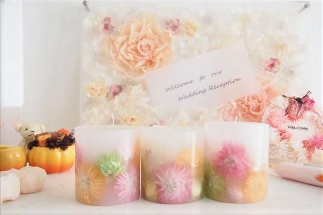 【東京・品川・キャンドル作り】可愛いお花のボタニカルキャンドルプラン