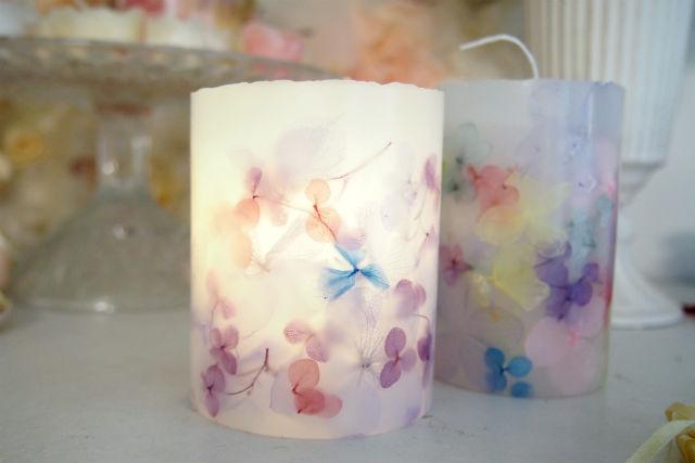 【東京・品川・手作りキャンドル】透ける光の花。あじさいキャンドル作り(1個)
