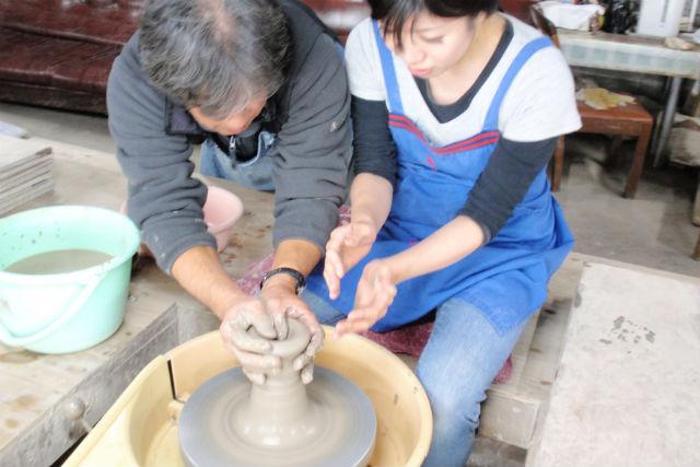 【栃木・益子町・電動ろくろ】気軽に陶芸1時間体験!益子最大のショッピングギャラリーへ!