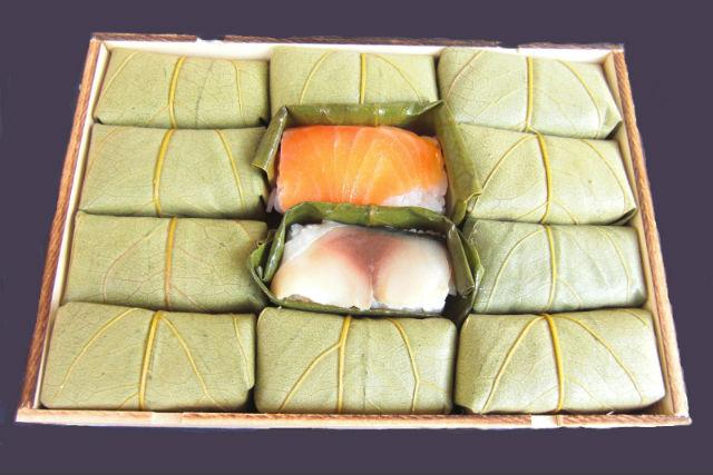 【奈良・吉野・料理体験】柿の葉ずしを作って食文化を学ぼう!鯖&鮭・12個入りプラン