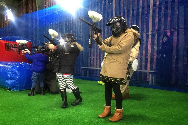 【札幌・ペイントボール】狙うは空中ターゲット!小さなお子様から参加OKのシューティングプラン