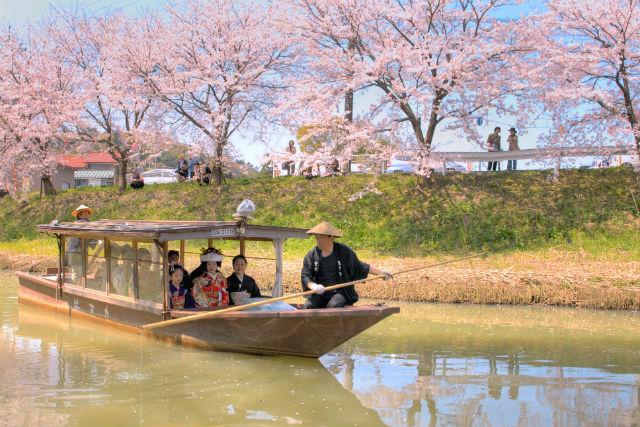 【石川・川下り・45分】舟唄が風情をかきたてます。旧大聖寺川で歴史・自然探訪 45分コース(歴史と自然)