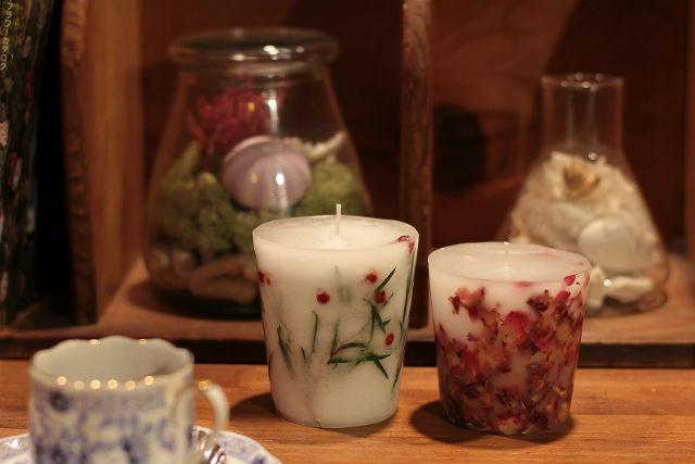【宮城・仙台・キャンドル作り】自然の美しさそのまま。プリザーブドフラワーで作るボタニカルキャンドル