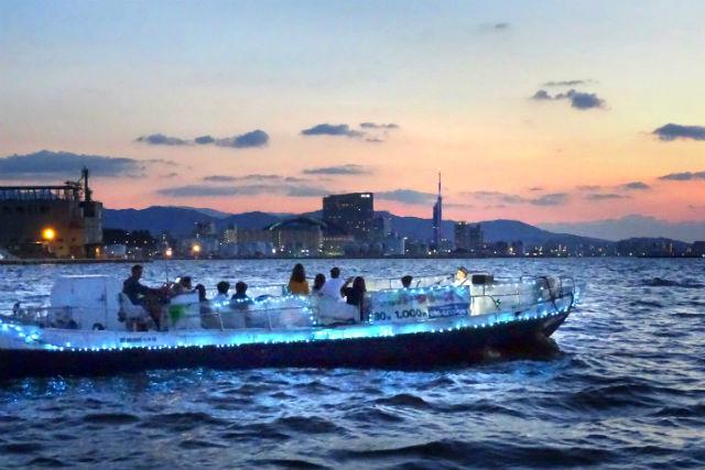 【2.5%還元】【福岡・博多・クルージング】夜のロマンチックな船旅をどうぞ!博多湾クルーズ【1名から予約可能】