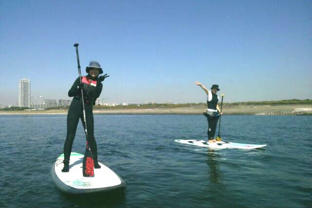 【千葉・SUP】初心者歓迎!水上散歩を楽しもう!検見川SUP体験