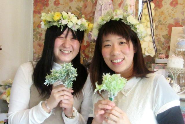 【東京・富士見台・フラワーアレンジメント】記念日にぴったり!お花が自由に選べる花冠レッスン