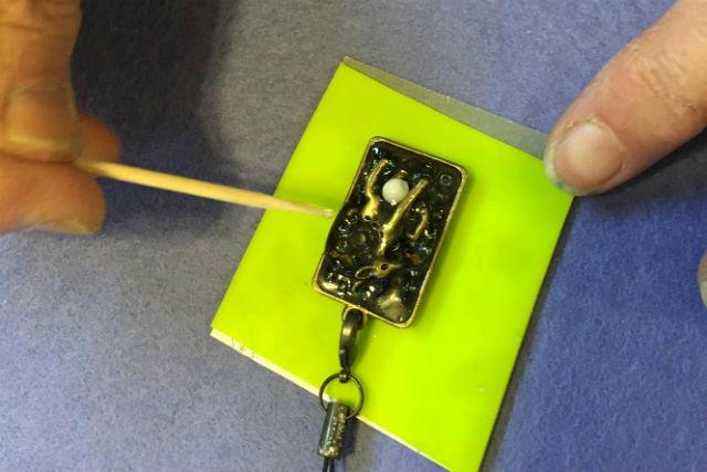 【奈良・アクセサリー手作り】ならまちでの記念品に!「鹿の角」を使った、珍しいレジンアクセサリー