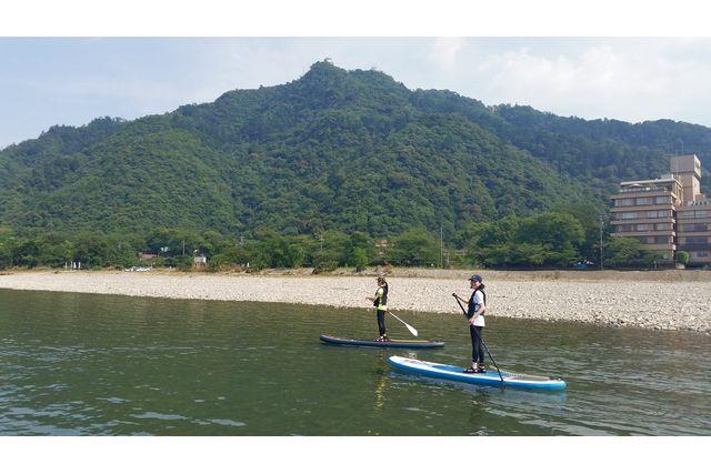 【岐阜・SUP】岐阜城をバックに清流長良川をのんびり!お気軽SUP体験ツアー