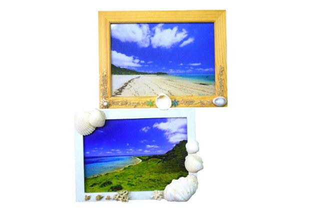 【石垣島・マリンクラフト】石垣島の思い出を閉じ込めよう!貝殻のフォトフレーム作り