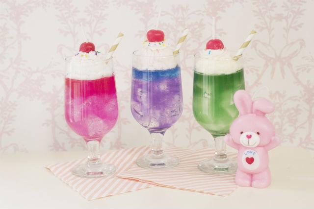 【埼玉・志木・キャンドル作り】本物のグラスでクリームソーダを再現。キャンドル1点