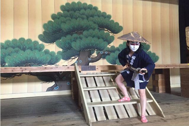 【岐阜・中津川市・伝統文化体験】歌舞伎役者になって記念撮影!隈取り体験