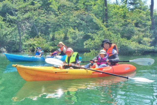 【岐阜・中津川市・カヤック】1時間で楽しめる!椛の湖・カヤック体験
