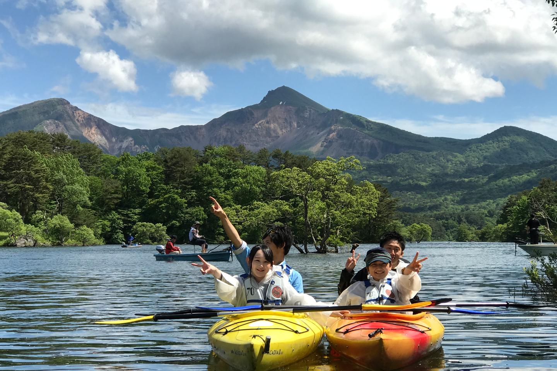 【福島・裏磐梯・カヌー】夏季限定!桧原湖・高原体験コース(15:15集合)