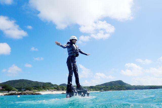 【鹿児島・奄美・フライボード】チュービング付き!2つのアクティビティでショートステイプラン
