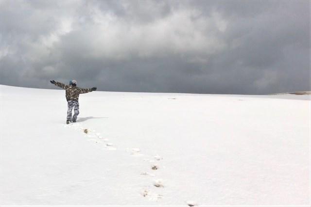 鳥取砂丘・雪と砂の嵐を歩く!冬限定の砂丘ツアー