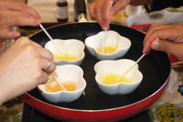 【山梨・手作り化粧品】天然のみつろうで作ろう!ハンドクリームとリップクリーム