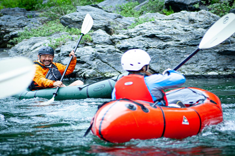 【埼玉・長瀞・パックラフト】1人乗りボートで出かけよう!パックラフト・静水クルージング