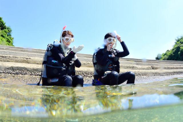 【長崎市・体験ダイビング】美しい長崎の海で体験ダイビング!友人・カップル・ファミリーで楽しめる!(宿泊先からの送迎付き)